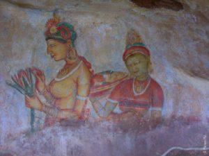 Фрески в Сигирии