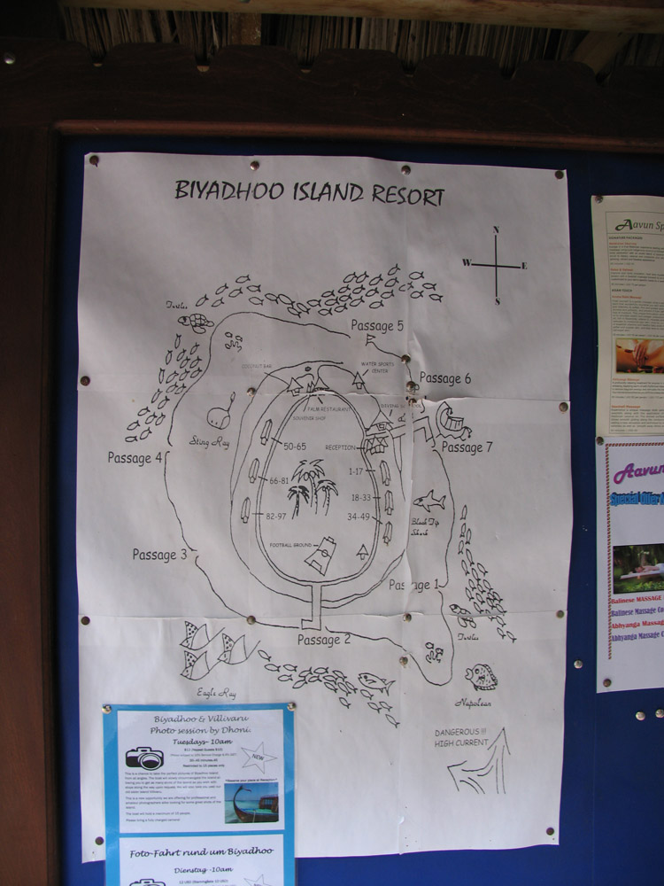 Схема острова-резорта Бияду