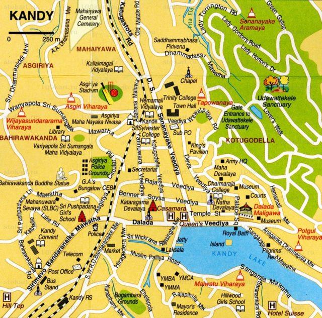 Подробная карта Канди
