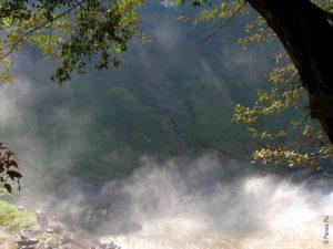 Солнечные лучи рассекали туман и завораживали