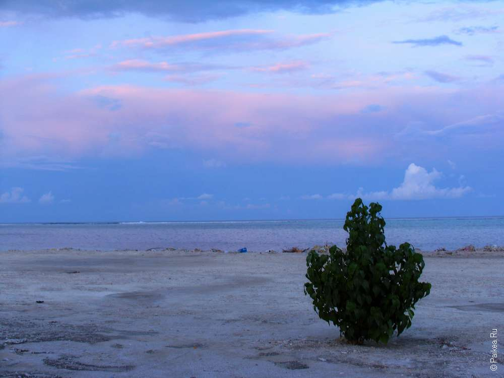 Мальдивы фото закат