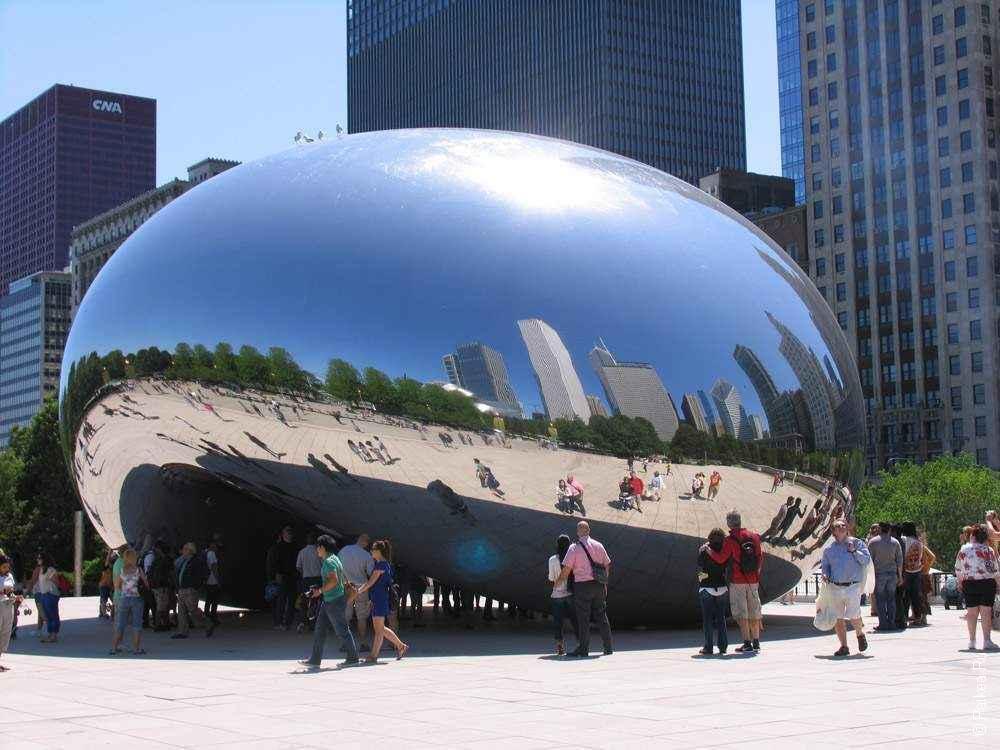 Чикаго зеркальный боб