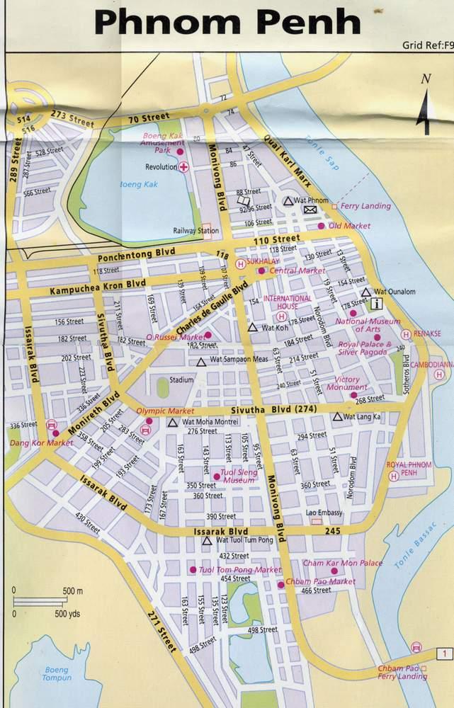 Карта Пномпеня