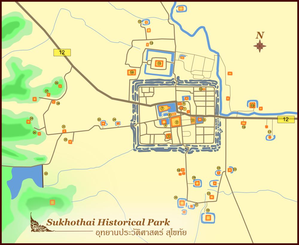 Карта Сукхотай