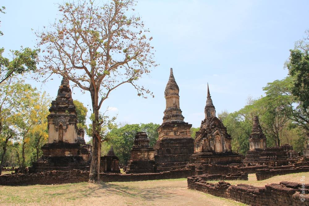 Таиланд - Си Сатчаналай - Ват Чеди Чет Тэо (Thailand - Si Satchanalai - Wat Chedi Chet Thaeo)