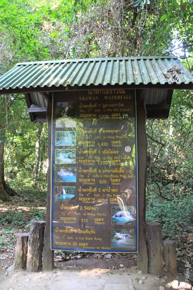 каскады водопада эраван