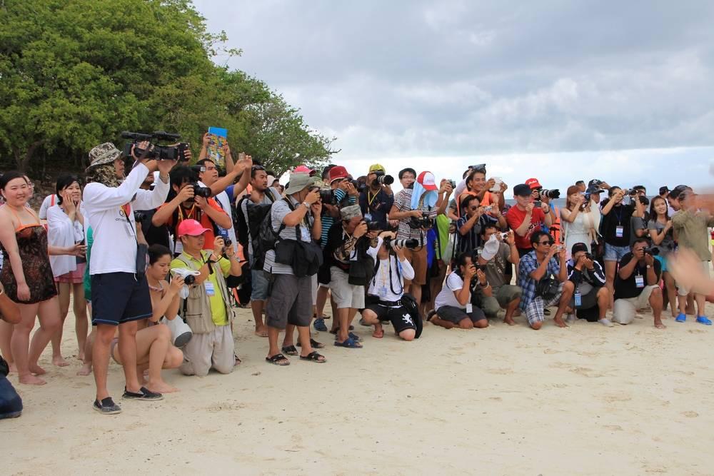Фотографы и группа поддержки
