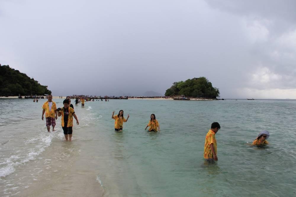 Песчаная коса между островами