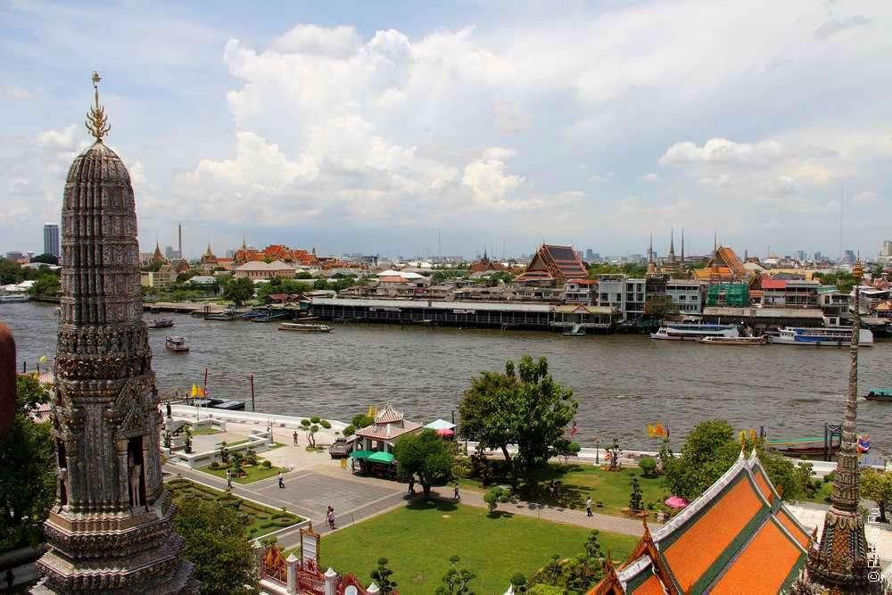 Вид на Бангкок с Ват Арун, Таиланд