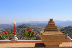 Красивый вид на горы на севере Таиланда