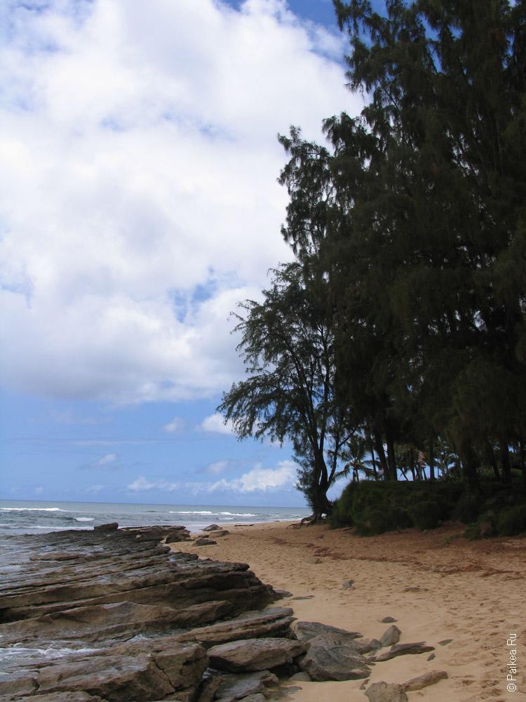 Пляж в Гонолулу на Гавайях, остров Оаху