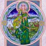 ирландская женщина на рисунке