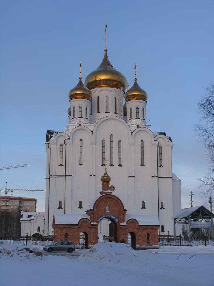 Стефановский собор морозным днем
