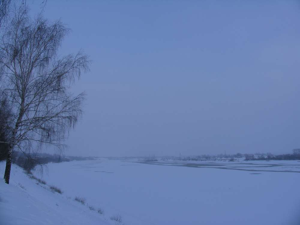 Волга спит