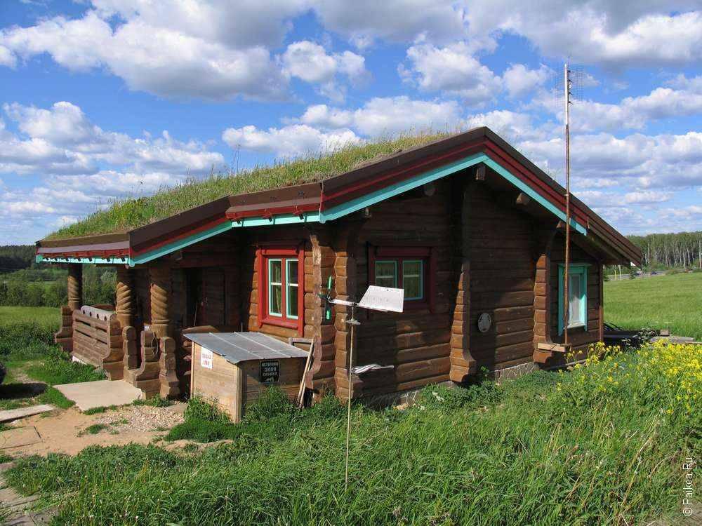 Крыша дома из травы