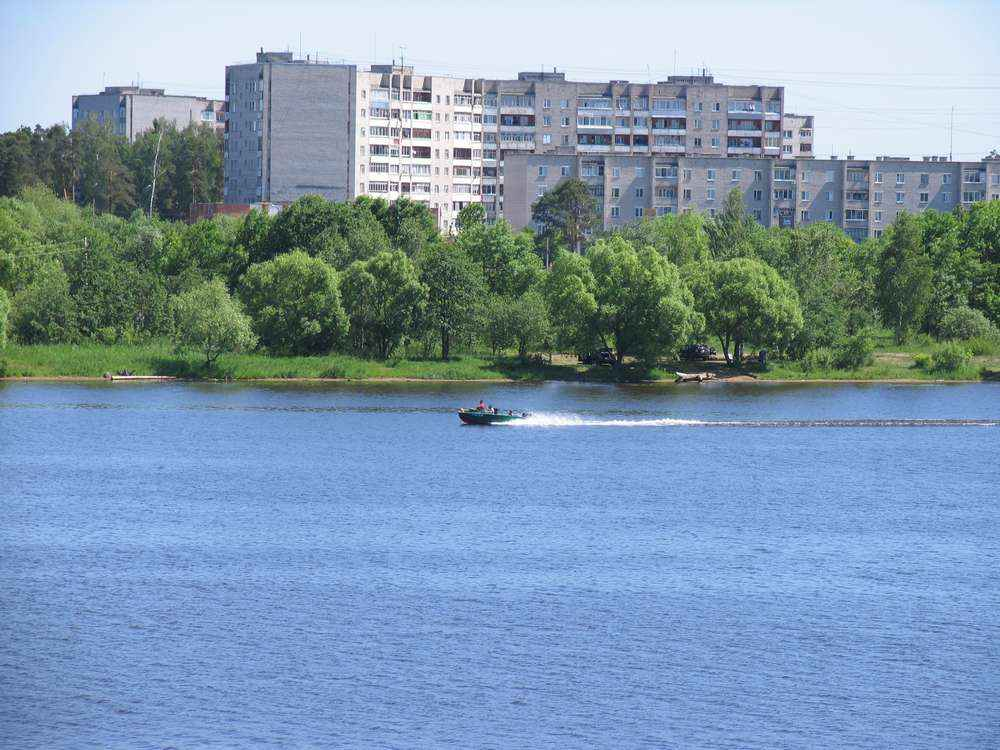 Вид на Савелово с кимрского берега