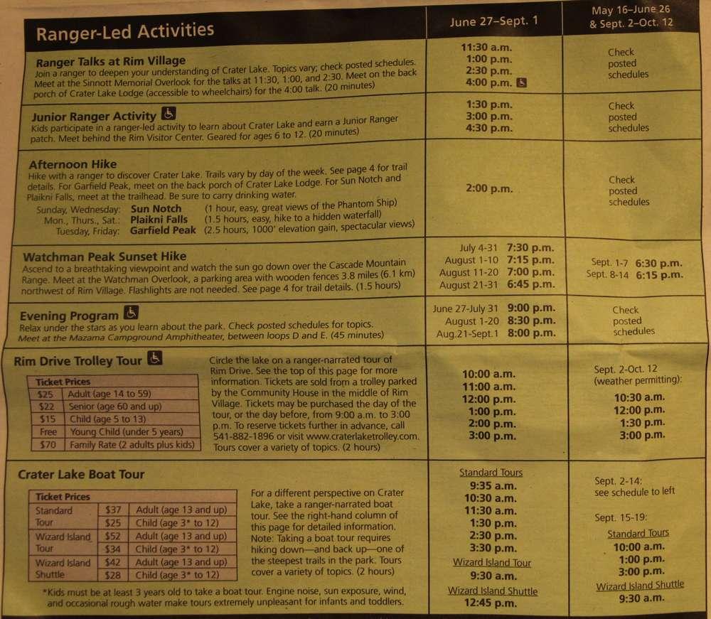 Что может предложить рейнджер в Кратер Лейк и цены на поездку на автобусе или лодке