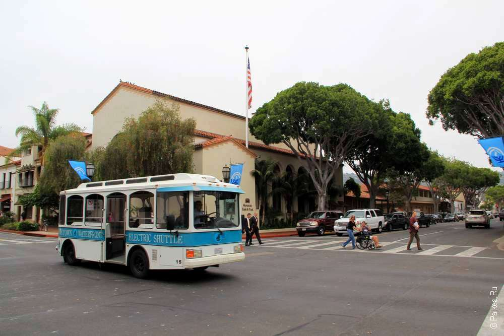 элетрический автобус в городе Санта-Барбара