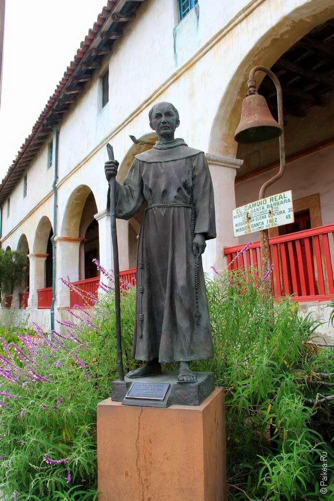 статуя основателя Миссии Санта-Барбары