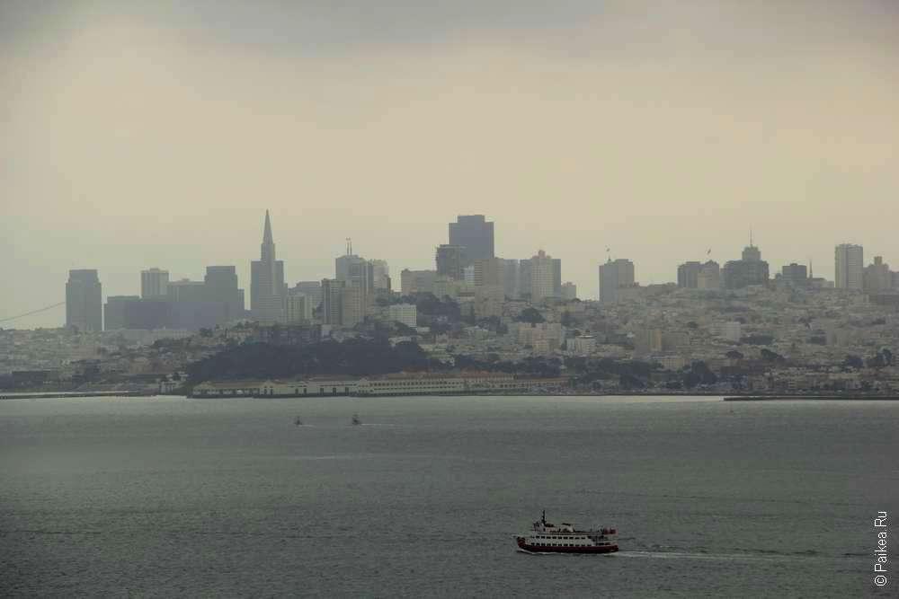 Фото города Сан-Франциско с моста Золотые ворота