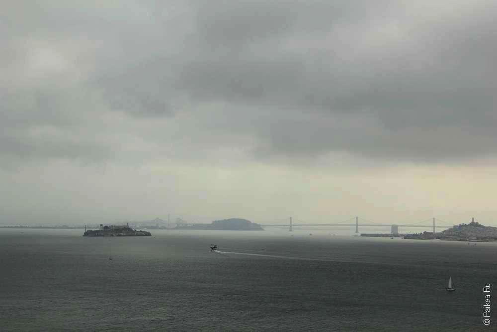 Тюрьма на острове Алькатрас в заливе Сан-Франциско