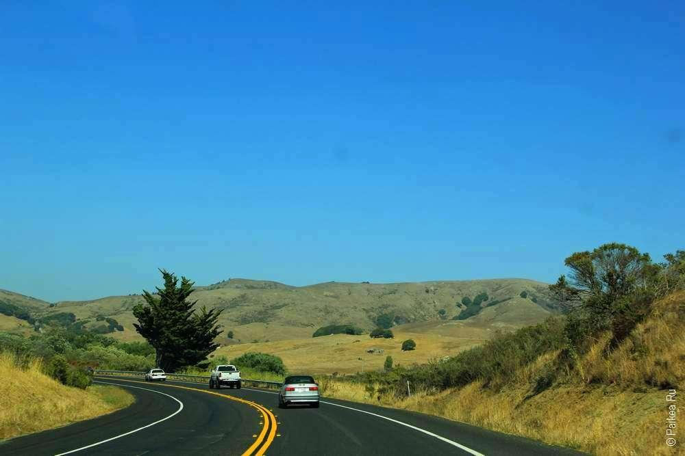 дорога в штате калифорния