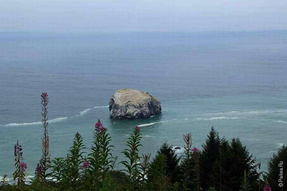Скала в Тихом океане