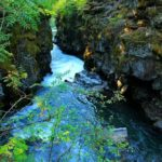 Река прорезала ущелье