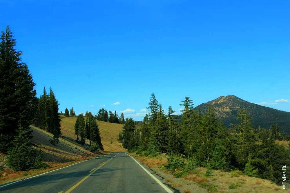 Дорога к вулканическому озеру