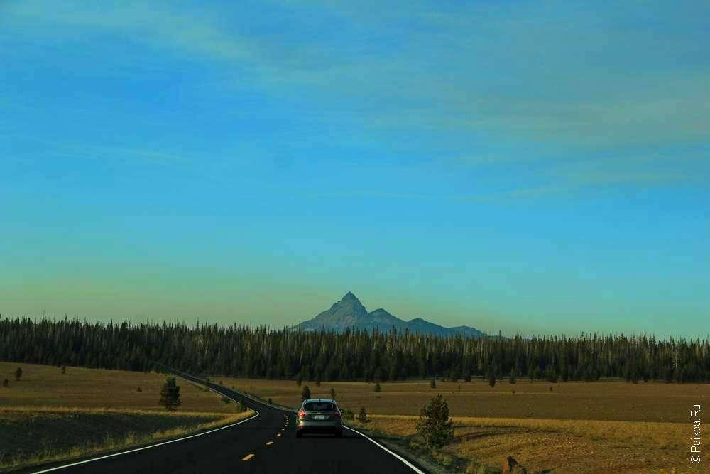 Дорога в сторону вулкана