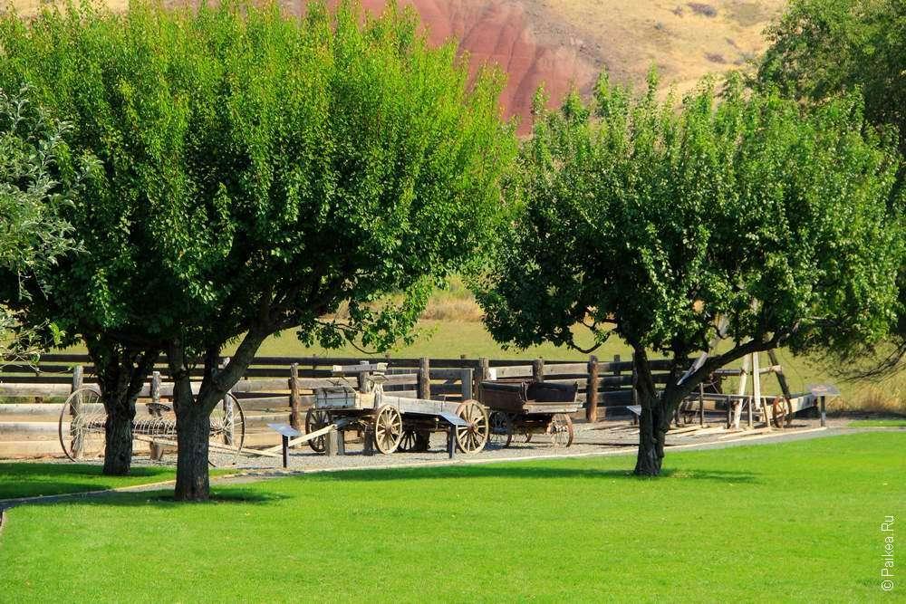 Американское ранчо в парке Джон Дей Фоссил Бедс