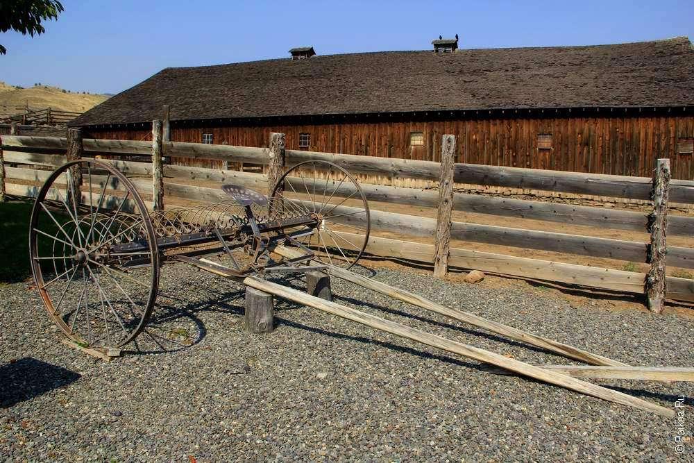 Деревянный сельско-хозяйственный инструмент