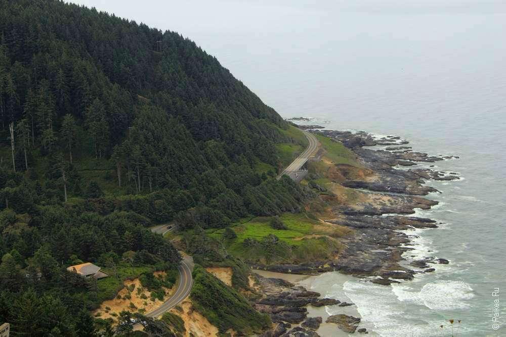Дорога вдоль орегонского берега