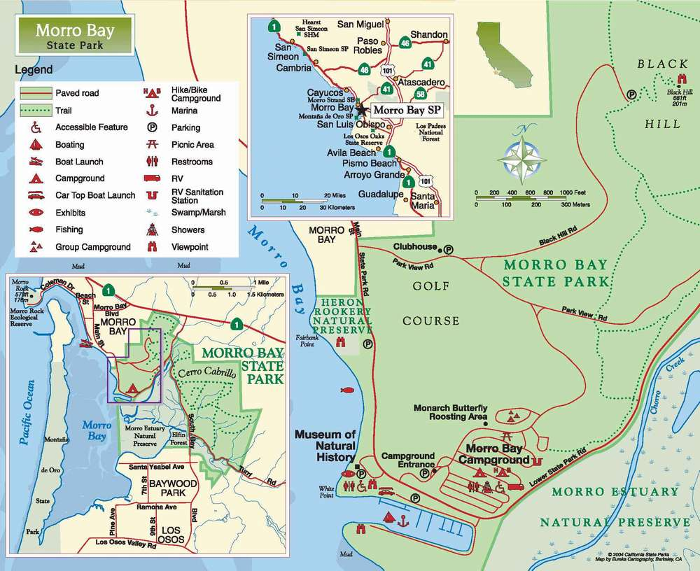 Карта парка штата Морро Рок
