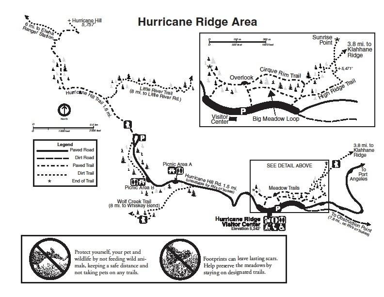 Карта пешего маршрута в Харрикейн Ридж
