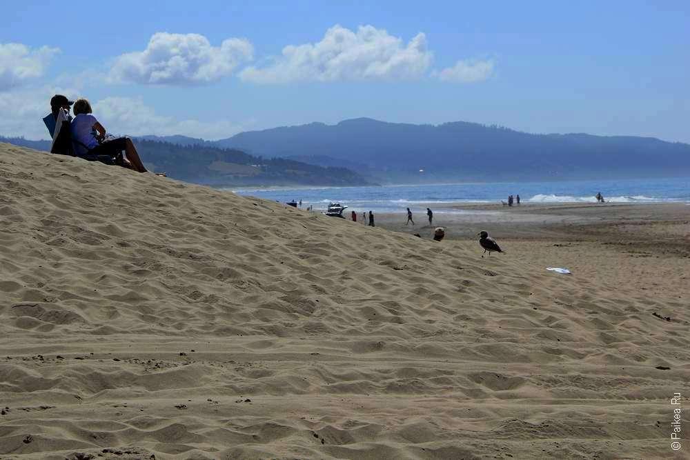 Песочный пляж в сша