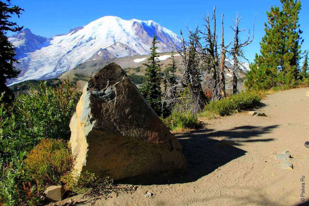 треккинг в горах - камень на тропе