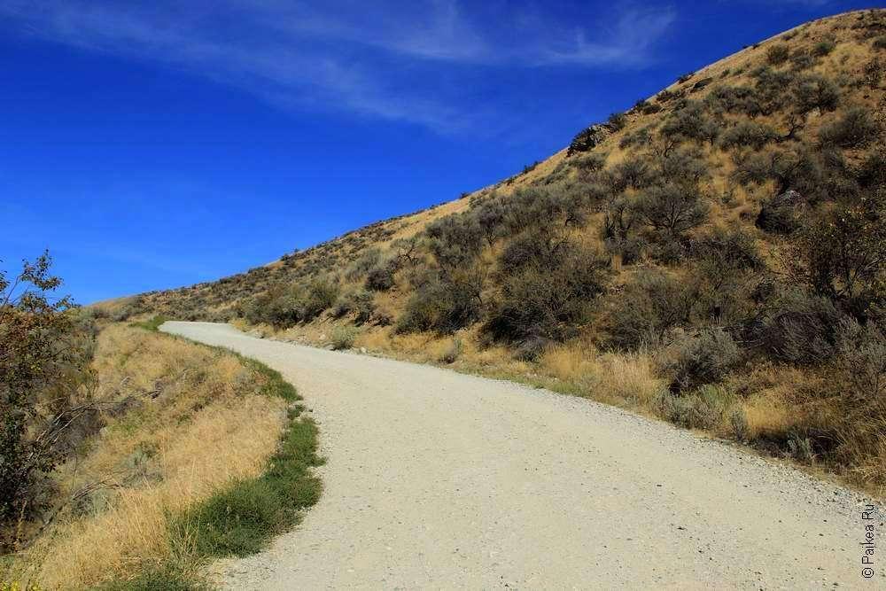 Грунтовая дорога в горах штата Вашингтон