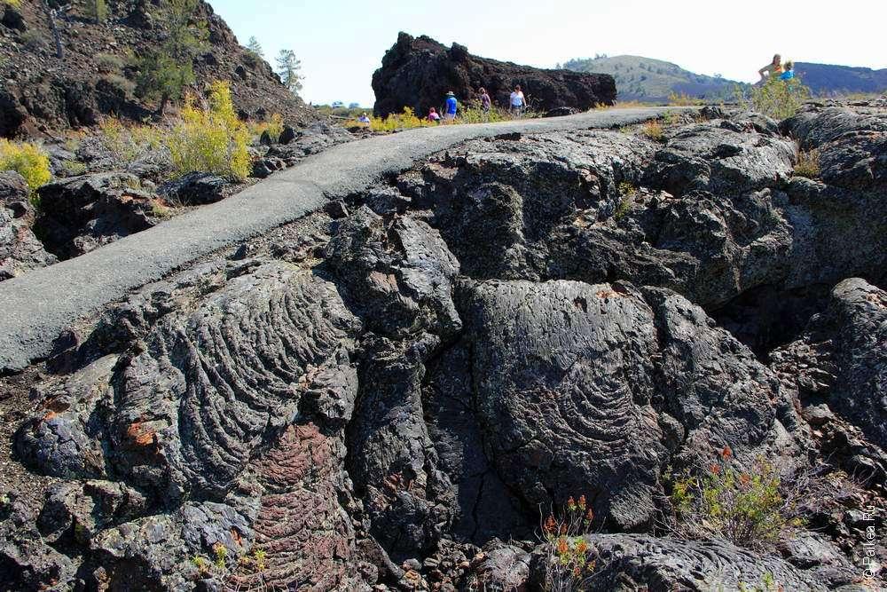 Застывшая лава в штате Айдахо