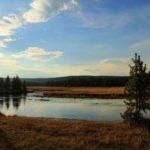 Речной пейзаж в национальном парке