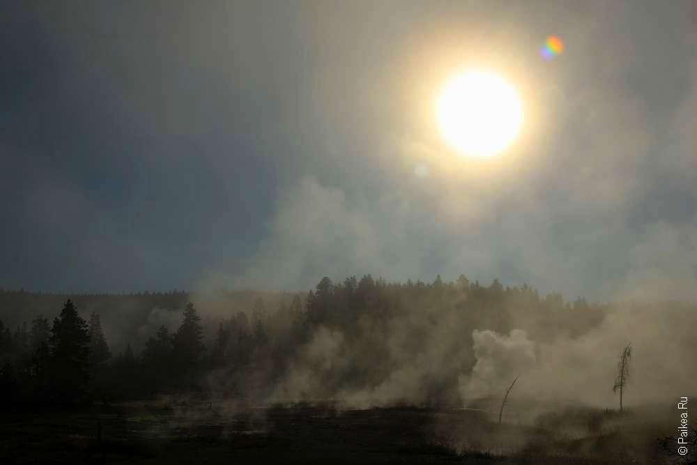 Солнце над Йеллоустоуном