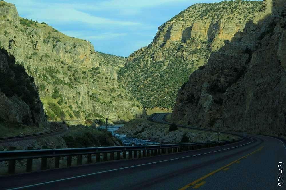Дорога по дну каньона