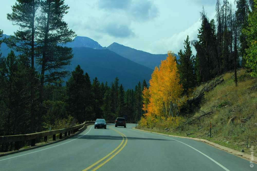 извилистая горная дорога в сша