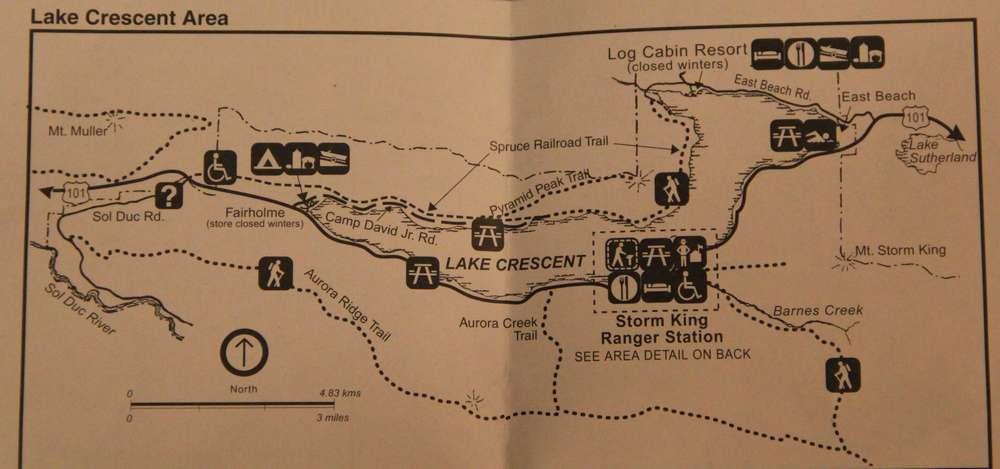 Территория и треки вокруг озера Полумесяца