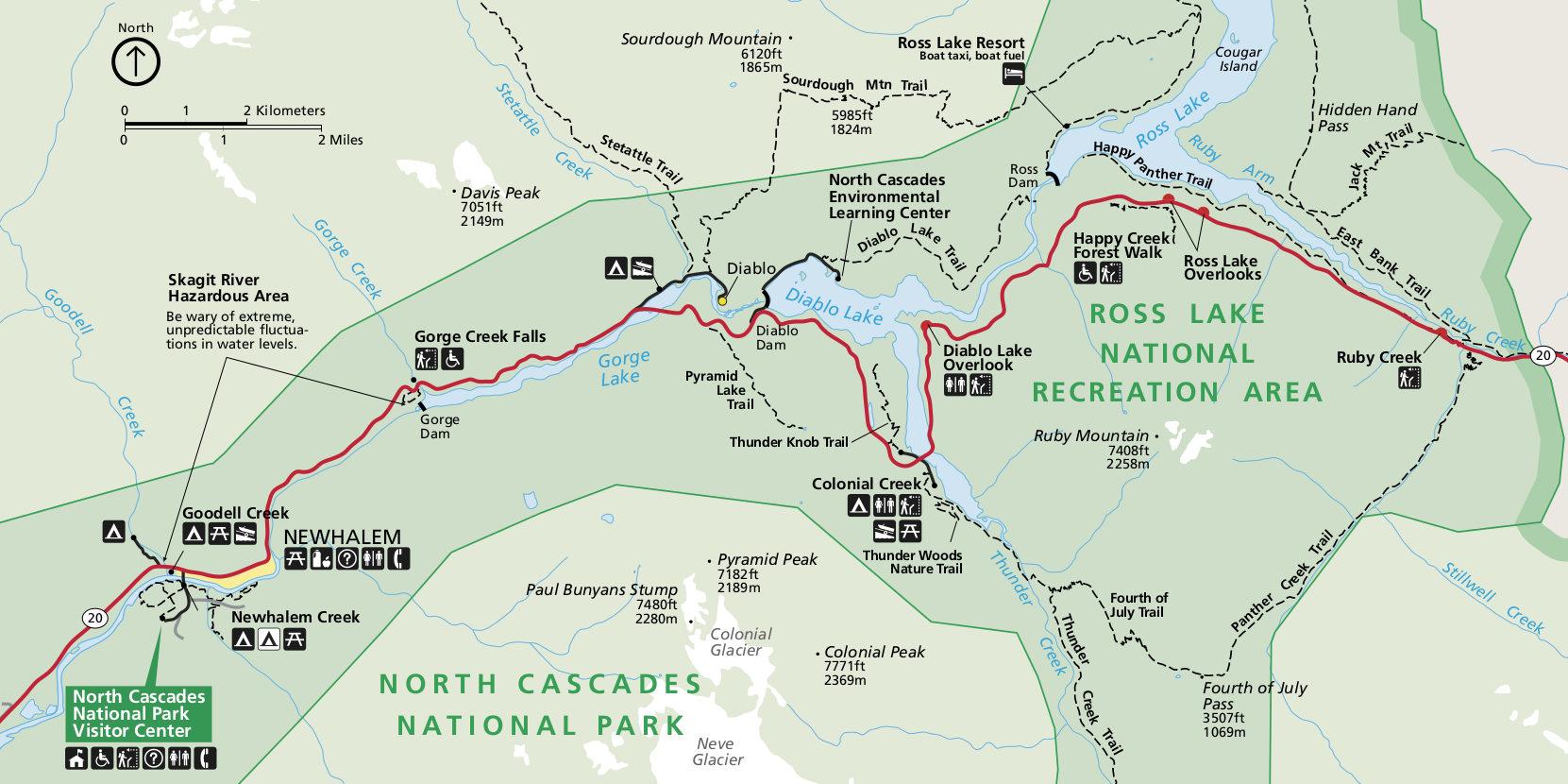 Nacionalnyj Park Nort Kaskejds Severnye Kaskady V Shtate Vashington