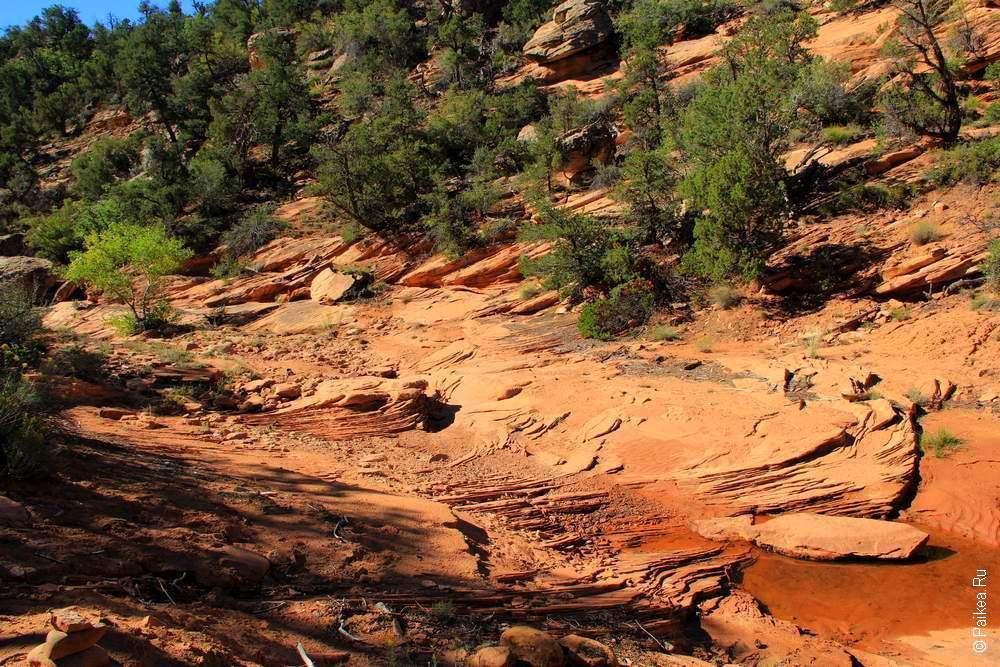 Дно каньона из песчаника
