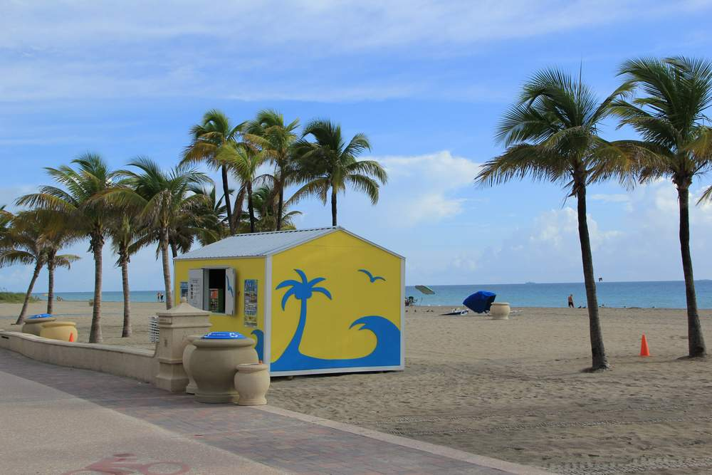 Форт Лодердейл, пляж Голливуд, США (Forf Lauderdale, Hollywood beach, USA)