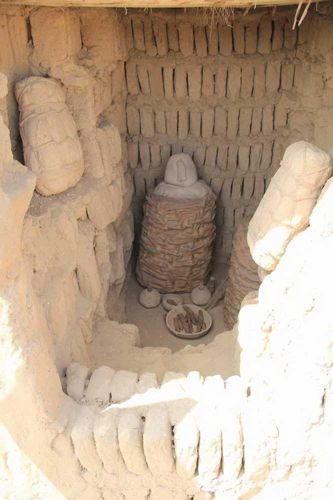мумии прятали в корзины (чульпас)