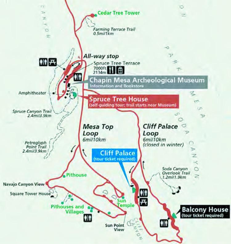 Chapin Mesa Map