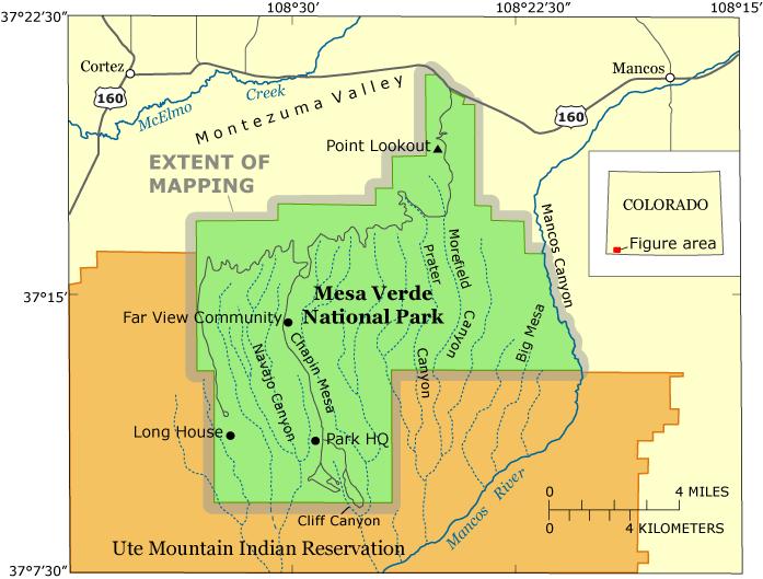 Mesa Verde National Park Map Pdf Mesa Verde National Park Location